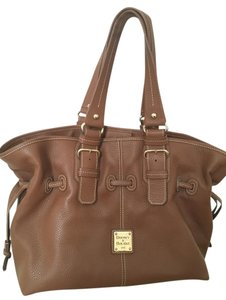 Dooney & Bourke Pebble Grain Gold Hardware Tote in Brown