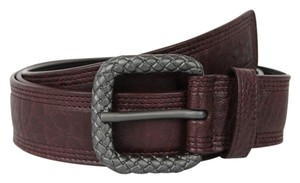 Bottega Veneta NEW Authentic Leather Belt Burgundy 100/40 298059 2201