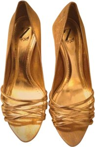 Sergio Zelcer Gold Sandals