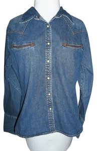 Wrangler Large Top blue denim