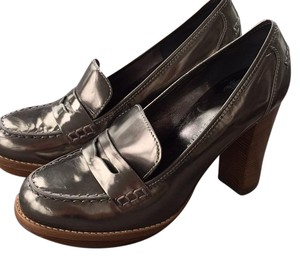 Marc by Marc Jacobs Loafer Silver Platforms