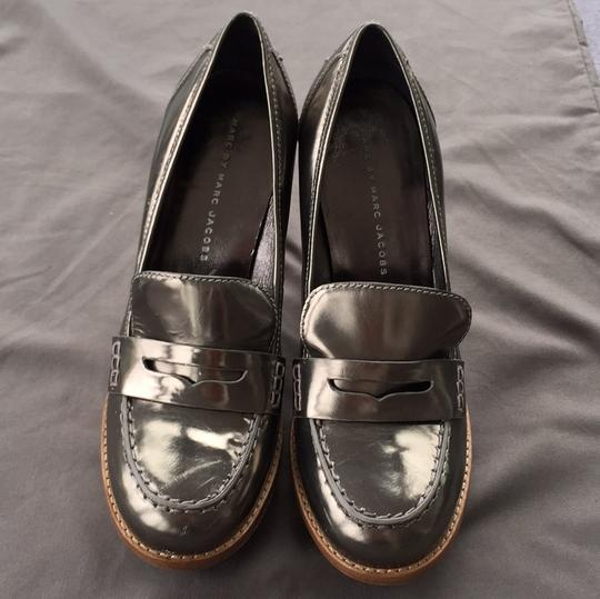 Marc by Marc Jacobs Loafer Silver Platforms Image 1