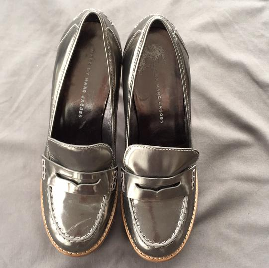 Marc by Marc Jacobs Loafer Silver Platforms Image 2