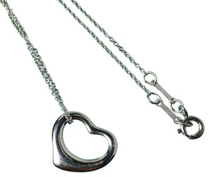 Tiffany & Co. Elsa Peretti Open Heart Pendant Necklace