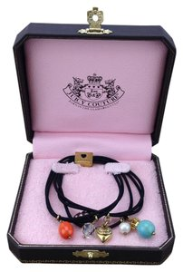 Juicy Couture Juicy Couture Black Elastic Hair Tie w/Charms