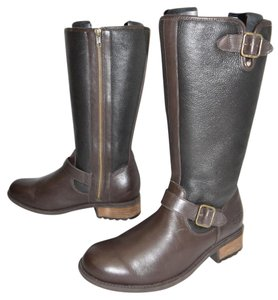 UGG Australia Tall Boot Winter Cold Weather BROWN BLACK LEATHER Boots