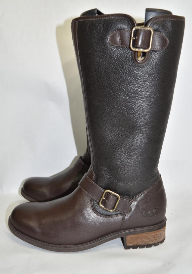 e6ba6ea8140 UGG Australia Brown Black Leather 'chancery' Water Resistant Shearling  (Ug1) Boots/Booties Size US 10 Regular (M, B) 40% off retail