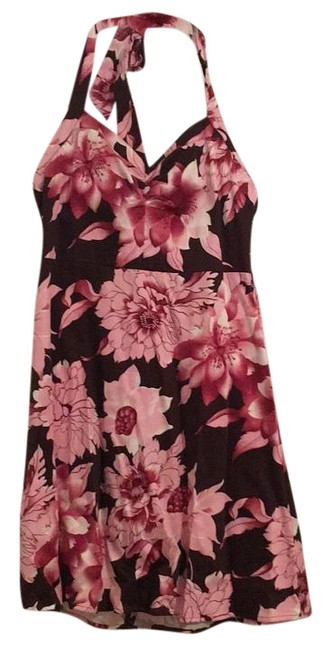Item - Pink and Brown Knee Length Work/Office Dress Size 12 (L)