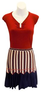 ALAA Alaia Mini Red Mini Skirt Multicolor