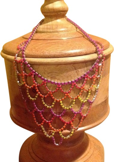 Preload https://item3.tradesy.com/images/pink-yellow-purple-vintage-handpainted-necklace-1969227-0-0.jpg?width=440&height=440