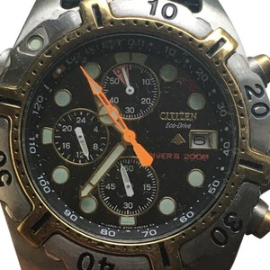 Citizen Dive watch 2 tone water proof Watch ideal for scuba diving Eco-Drive
