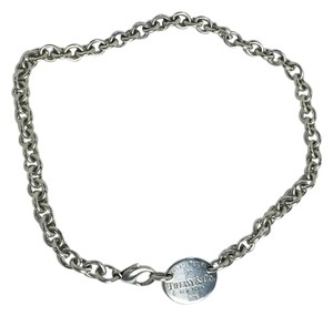 Tiffany & Co. Tiffany & Company Silver Oval Tag Necklace