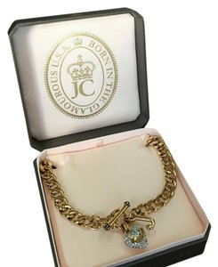 Juicy Couture Pave Banner Heart Starter Necklace