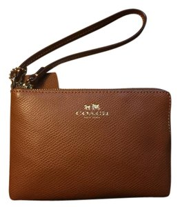 Coach Leather 53429 Wristlet in Brown