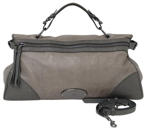 Mulberry Leather Crossbody Satchel in Gray