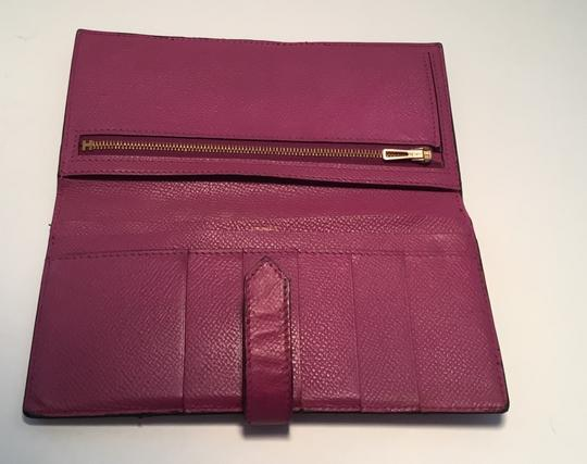 Hermès Hermes Bearn Wallet With Gold Toned Hardware Image 2