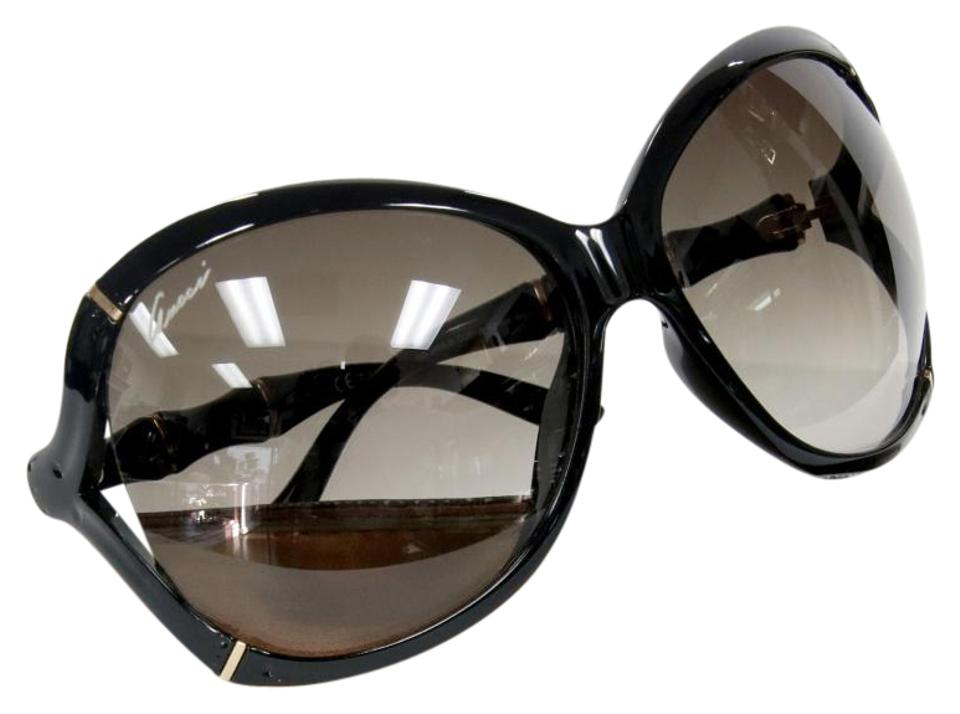 bf2234ee058 Gucci Gucci Signature Bamboo Black Frame With Gold Detail Sunglasses Image  0 ...