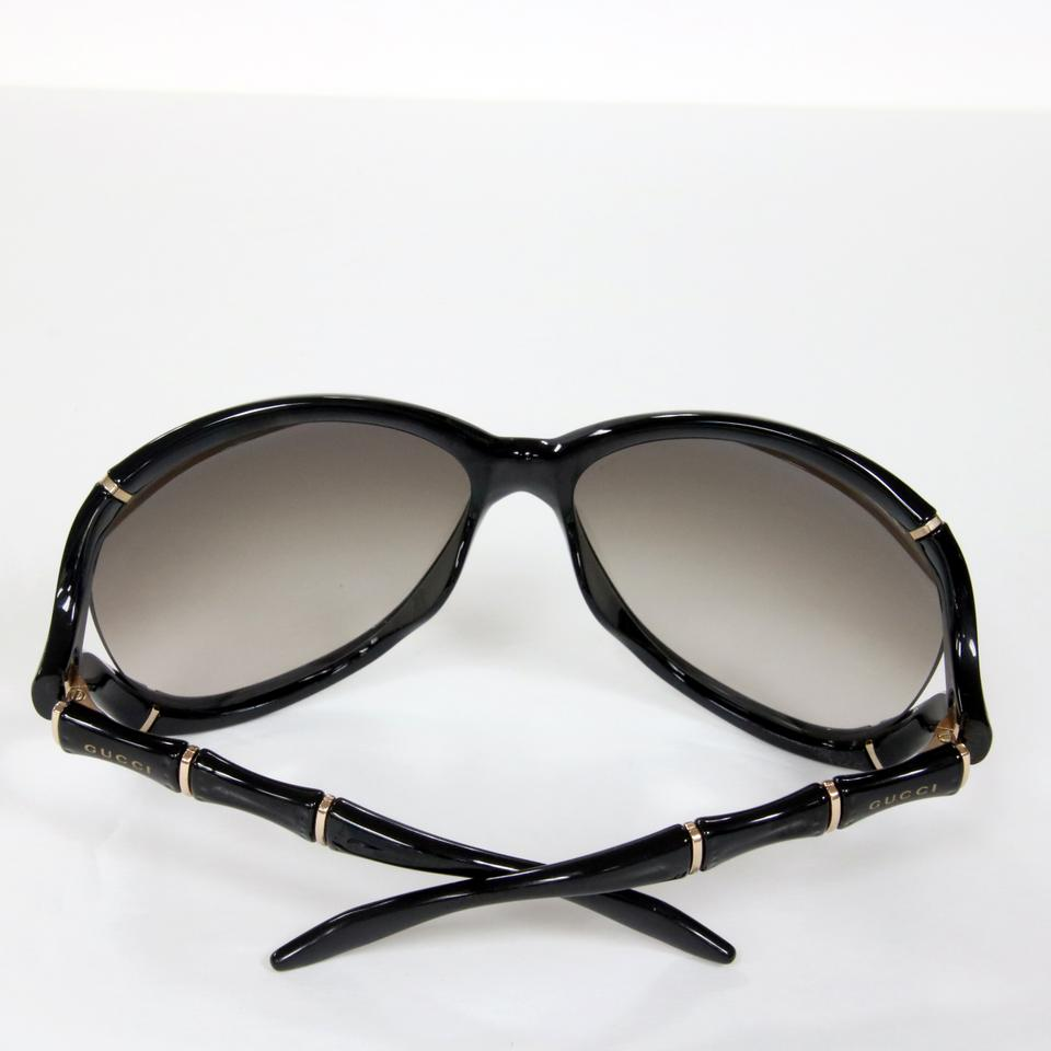 fe892001431 Gucci Gucci Signature Bamboo Black Frame With Gold Detail Sunglasses Image  10. 1234567891011