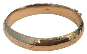 Vintage 14K Gold Wide Bangle Bracelet