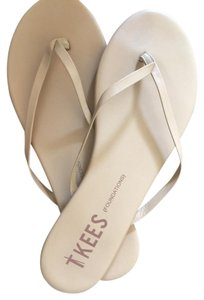 TKEES Nude Flip Flops Size 11 Natural Color NUDE/bone Sandals
