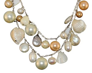 Other Mixed Cultured Pearls Shell & MOP 3 Strand Necklace New SHPE SLV