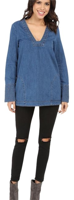 Preload https://img-static.tradesy.com/item/19692878/free-people-hendrix-blue-dreaming-of-denim-tunic-size-2-xs-0-1-650-650.jpg