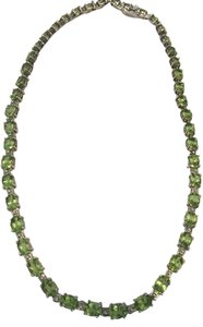 Other Vintage Sterling Silver and Peridot Necklace