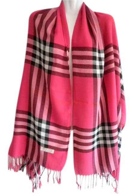 Item - Fushia Checker Wool Scarf/Wrap