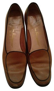 Salvatore Ferragamo Leather Brown Flats