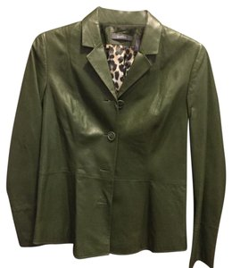Liz Claiborne Green Leather Jacket