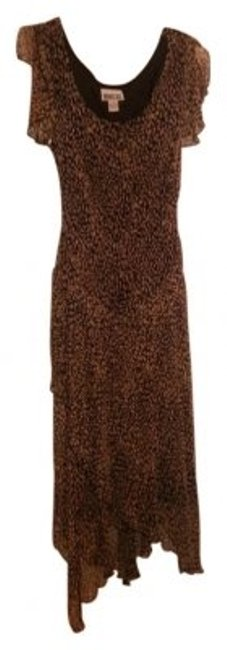 Item - Brown Black Patterned Long Casual Maxi Dress Size 12 (L)
