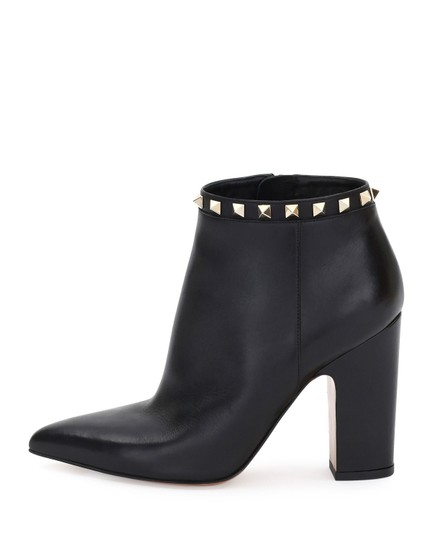 Valentino Calfskin Leather Ankle Black Boots Image 1