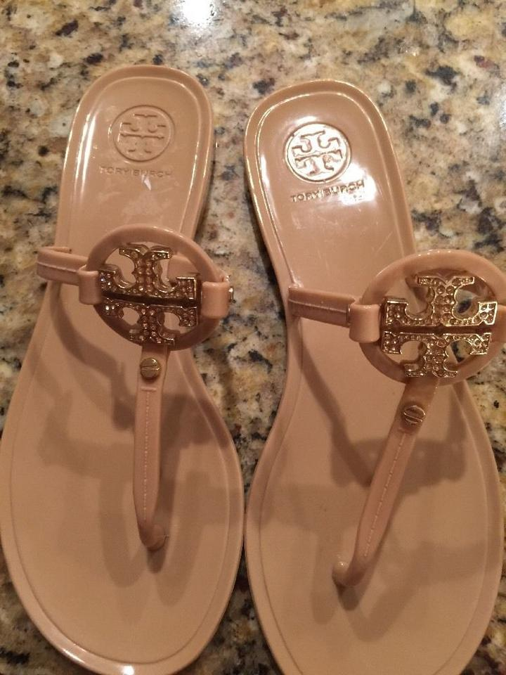 8ff9b8028143f4 Tory Burch Nude Tan Mini Miller Jelly Sandals Size US 9 Regular (M ...