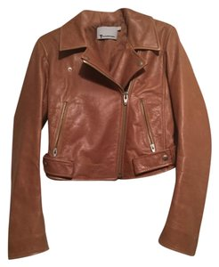 Alexander Wang Brown Leather Jacket