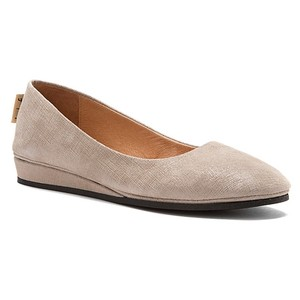 French Sole Wedge Light Grey Flats