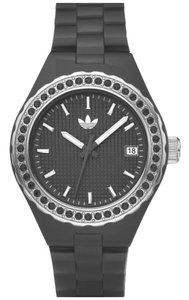 adidas New Adidas Women Mini Cambridge Glitz Gray band Date Watch ADH2090