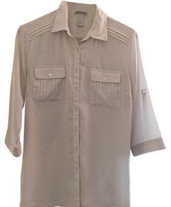 H&M Button Down Shirt Light grey