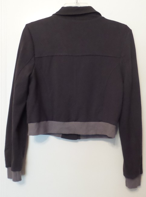 Anthropologie Knit Small Fitted Grey Jacket Image 3