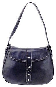 Kenneth Cole Contrast Stitching Saddle Shoulder Bag