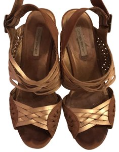 Twelfth St. by Cynthia Vincent Wedge Gold Sandals