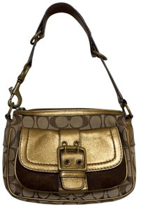 Coach Vintage Leather Suede Signature Jacquard Special Edition Baguette
