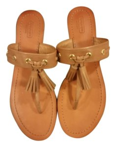 Coach Sheena Sandal Tassal Sandy Brown Sandals