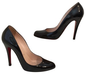 Christian Louboutin Red Soles Patent Leather Black Pumps