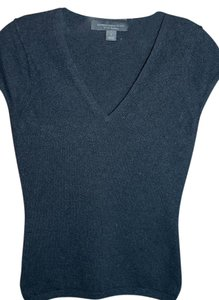 Express 100% Cashmere T-shirt V-neck Short Sleeves Cozy Sweater