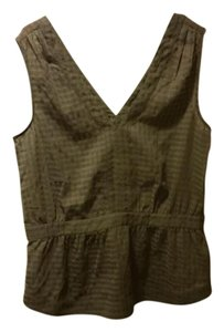 Banana Republic Green Army Boho Heritage Top Hunter green