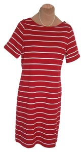 Ralph Lauren short dress RED + WHITE STRIPED COTTON KNIT To Sell Fast Shipping Soft Wear on Tradesy