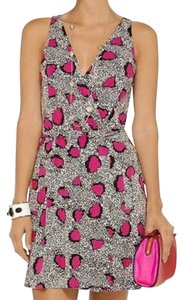 Diane von Furstenberg short dress Cheetah Island Pink Dahlia on Tradesy