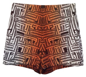 bebe Mini/Short Shorts Black, white, orange