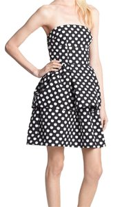 Kate Spade Apples Navy Blue Pockets Peplum Dress