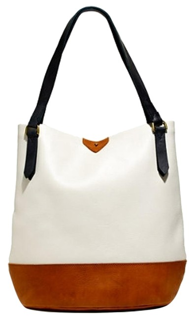 Item - Essex Tote In Colorblock White Leather Hobo Bag